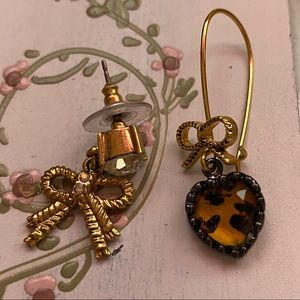 Betsey Johnson Mismatched Earrings